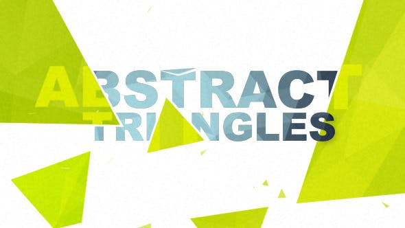 Thumbnail for Abstract Triangles Logo Reveal