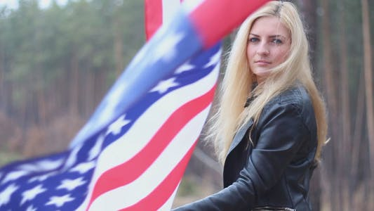Thumbnail for Girl With American Flag