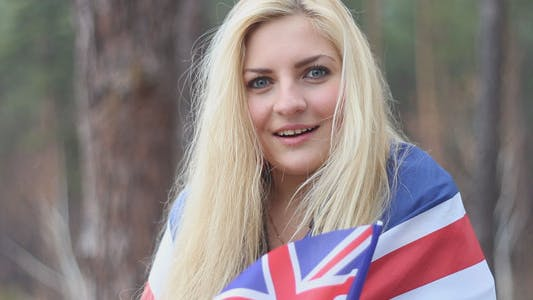 Thumbnail for Girl With a British Flag Talking