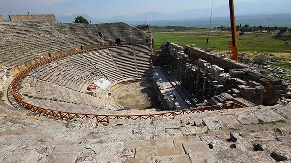 Thumbnail for Ancient Amphitheater In Pamukkale Turkey