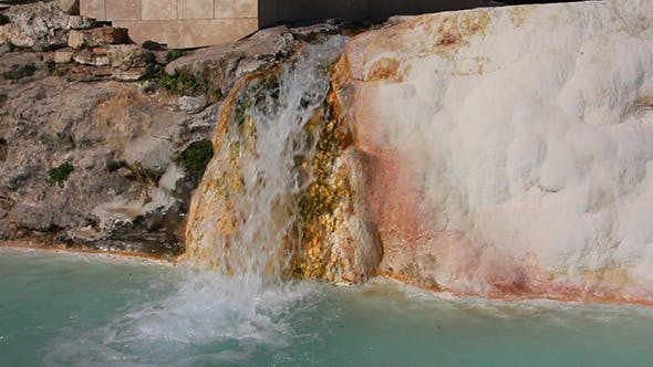 Thumbnail for Mineral Waterfall In Pamukkale Turkey