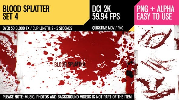 Thumbnail for Blood Splatter (HD Set 4)