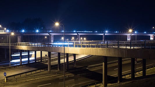 Cover Image for Freeway Night Traffic