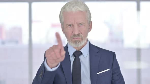 Thumbnail for Rejecting Old Businessman, No By Finger Gesture