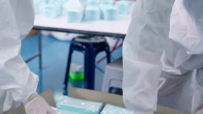 Face Mask Production Line in Modern Factory
