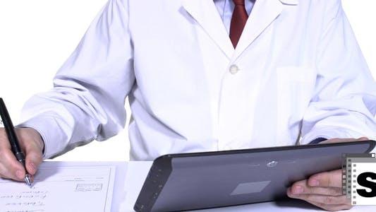 Thumbnail for Medical Prescription With Digital Tablet
