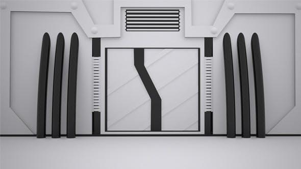 Thumbnail for 3D Sci-Fi Door Open