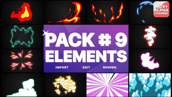 Thumbnail for Flash FX Elements Pack 09 | Motion Graphics