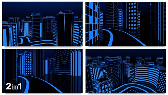 Thumbnail for Neon Glow Night City Loop (2-Pack)