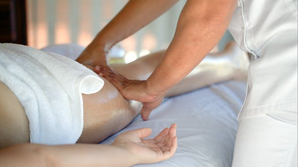 Thumbnail for Woman Getting Massage Treatment In Beauty Spa