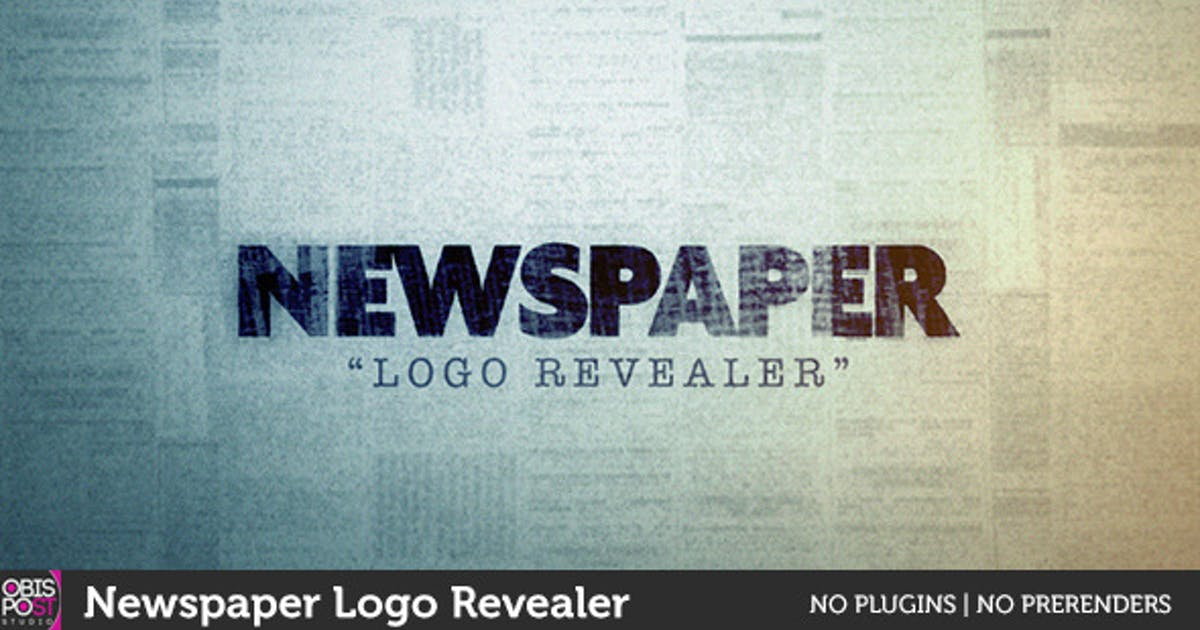 Download Newspaper Logo Reveal by obispost