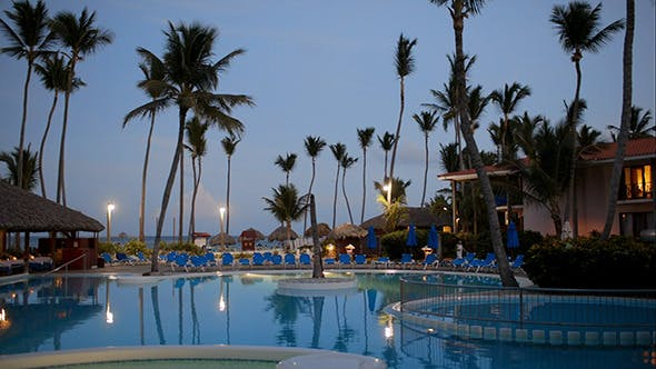 Thumbnail for Quiet Summer Evening On Tropical Resort