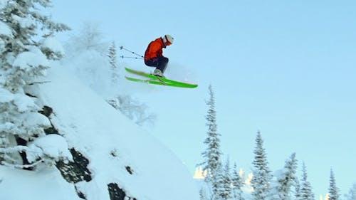 Extrem Skifahrer