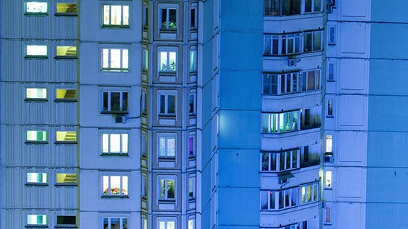 Multistory Building With Twinkling