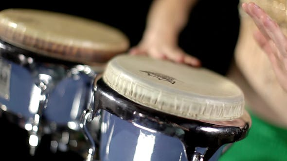 Thumbnail for Female Percussion Drummer Performing With Bongos 16