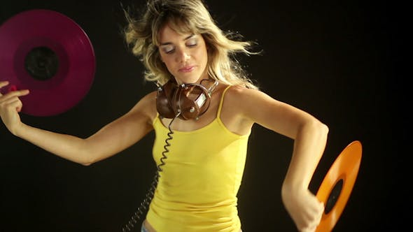 Thumbnail for Girl Dancing With Records 2
