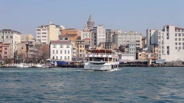 Thumbnail for Istanbul Skyline Galata Bosporus Boote Türkei 1