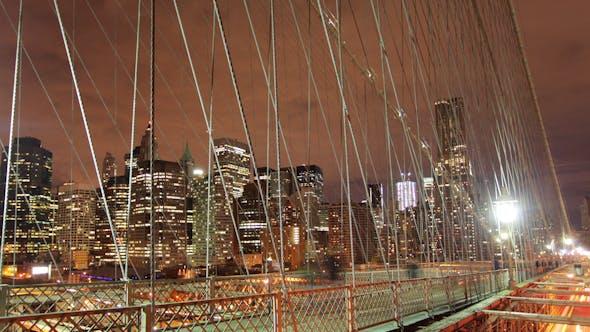 Thumbnail for Brooklyn Bridge At Night, New York 10