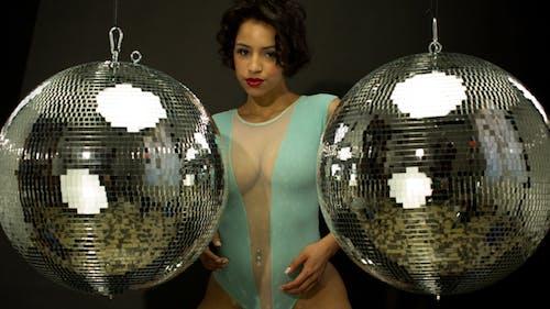 Sexy Disco Female Dancer Mirrorball Music 5