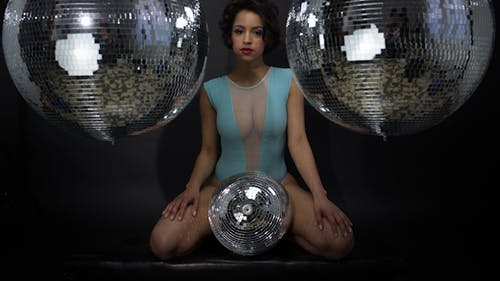 Sexy Disco Female Dancer Mirrorball Music 7