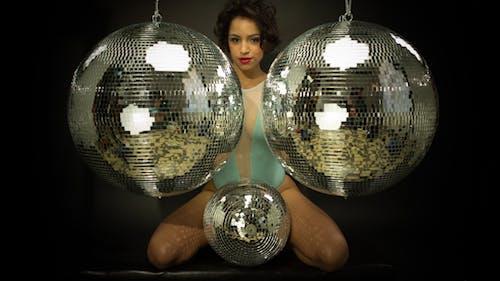 Sexy Disco Female Dancer Mirrorball Music 8