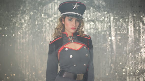 Thumbnail for Sexy Female Military Burlesque Dancer 1