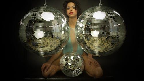 Sexy Disco Female Dancer Mirrorball Music 9