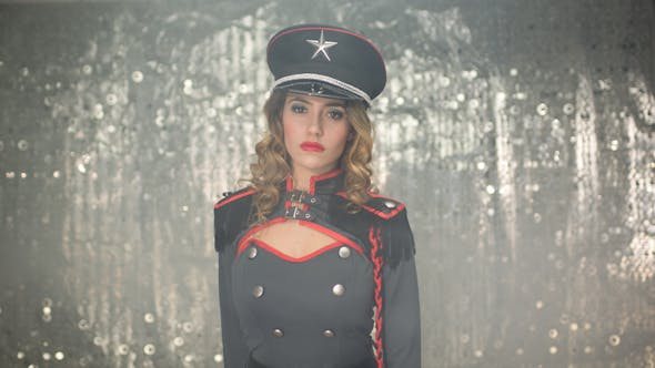 Thumbnail for Sexy Female Military Burlesque Dancer 3