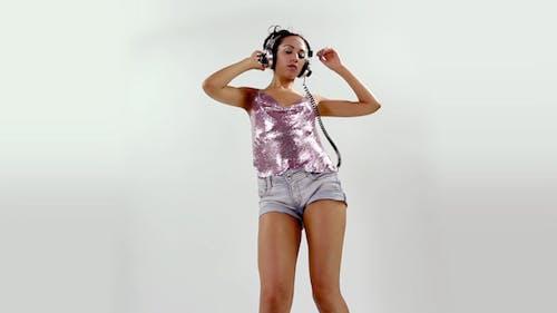 Sexy Girl Dance Headphones 5