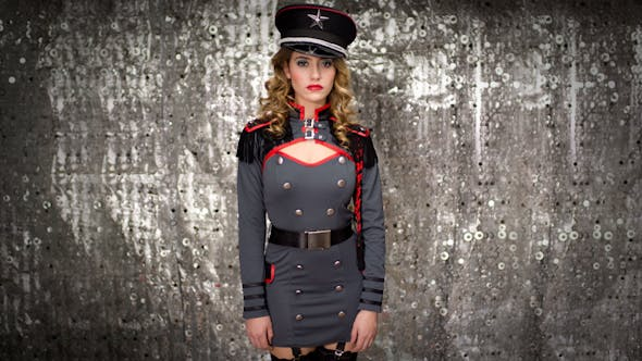 Thumbnail for Sexy Female Military Burlesque Dancer 5