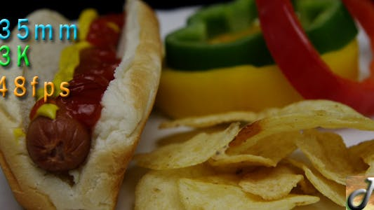 Thumbnail for Traditional Hot Dog And Potato Chips