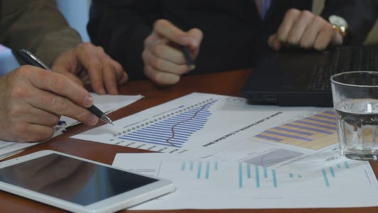 Thumbnail for Business People Analyze Sales Figures