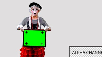 Mime With a Sign 2