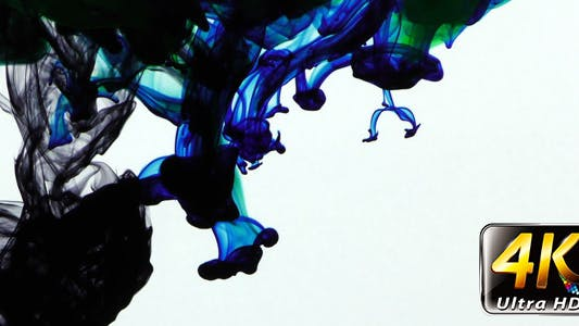 Thumbnail for Colorful Paint Ink Drops Splash in Underwater 6