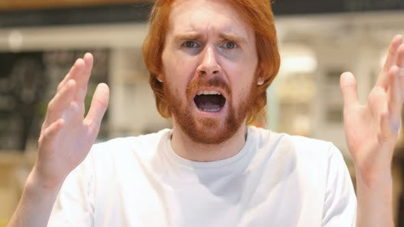 Thumbnail for Redhead Beard Man Gesturing Failure and Problems