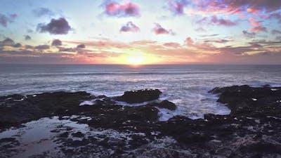 Epic Sunset over Ocean Coast