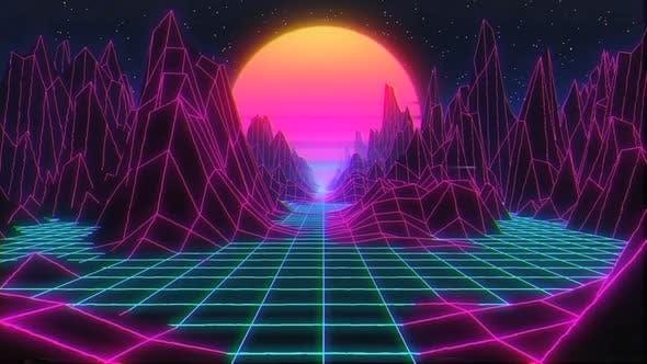 Thumbnail for 80s Retro Background 04