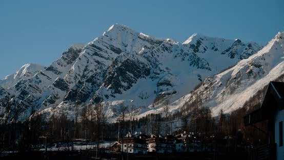 Thumbnail for Evening Landscape and Ski Resort in Sochi Rosa