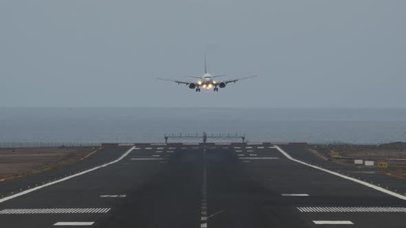 Thumbnail for A Boarding Aircraft Going Towards the Camera