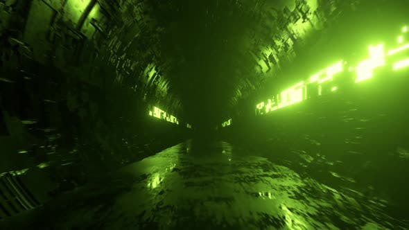 Thumbnail for Endless Flight in a Futuristic Metal Corridor