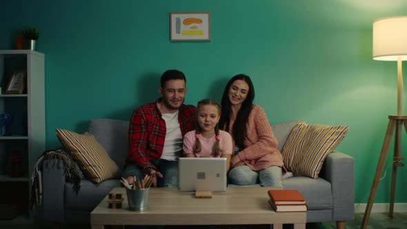 Young Family Has Video Call