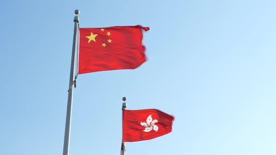 Thumbnail for China and Hong Kong flag