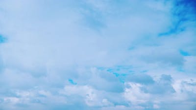 Cloudy Blue Sky With Clouds