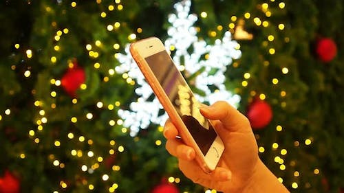 Using Smartphone In X'mas Time