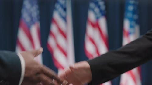 Election Opponents Shaking Hands