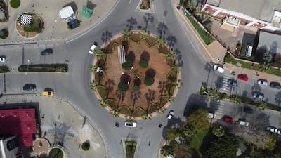 Vehicles Moving Roundabout