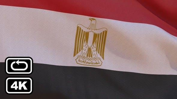Thumbnail for Egypt Flag 4K Seamless Loop