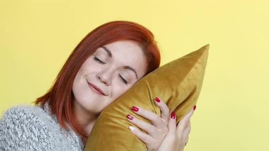 Thumbnail for Woman Hugged the Pillow and Sleeps