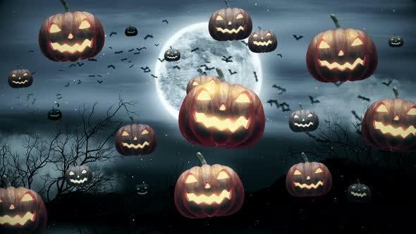 Thumbnail for 4K Halloween Pumpkins