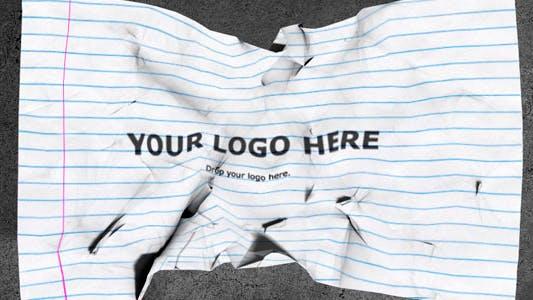 Thumbnail for Logo de papier froissé Révéler